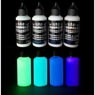 Pintura fosforescente al agua MOONGLO kit 4 colores