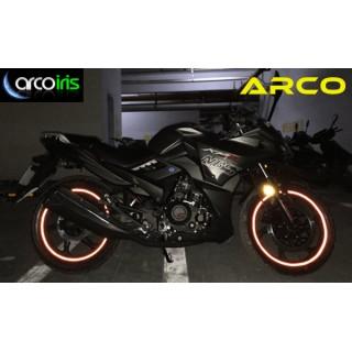 Pegatina de llantas reflectante ARCO para moto